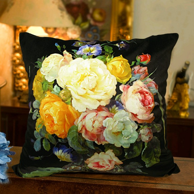 Flower Bouquet Cushion Cover