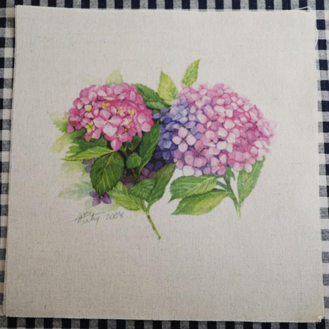 Handmade Flower Print Fabric