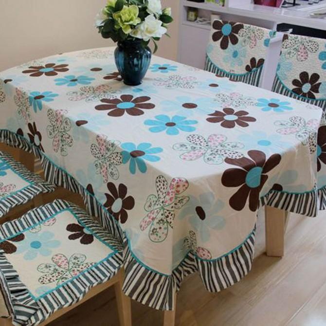 Blue Daisy Tablecloth
