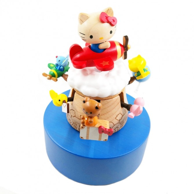 Flying Hello Kitty Animal Zoo Music Box