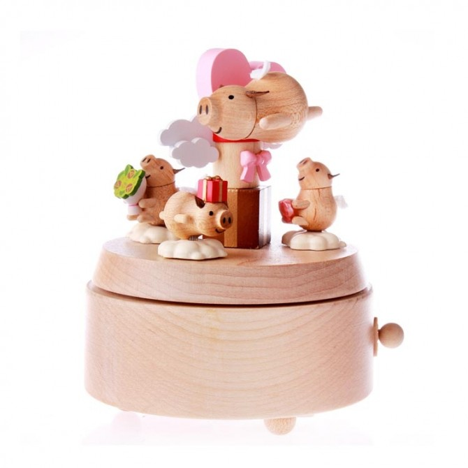 Flying Pig Gift Music Box