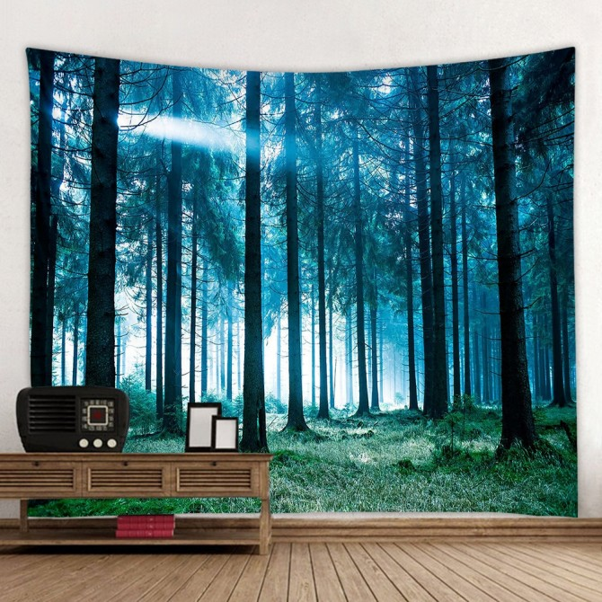Forest Tree Fashion Bohemian Wall Art Tapestry