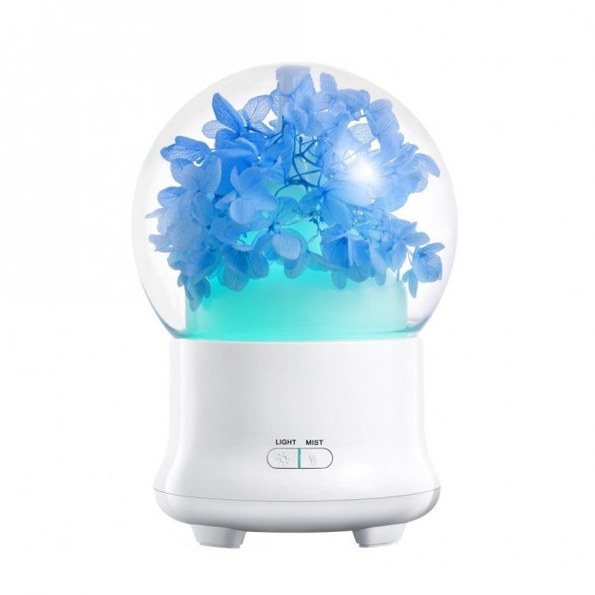 Hydrangea Flowers Aroma Diffuser Cool Mist Humidifier