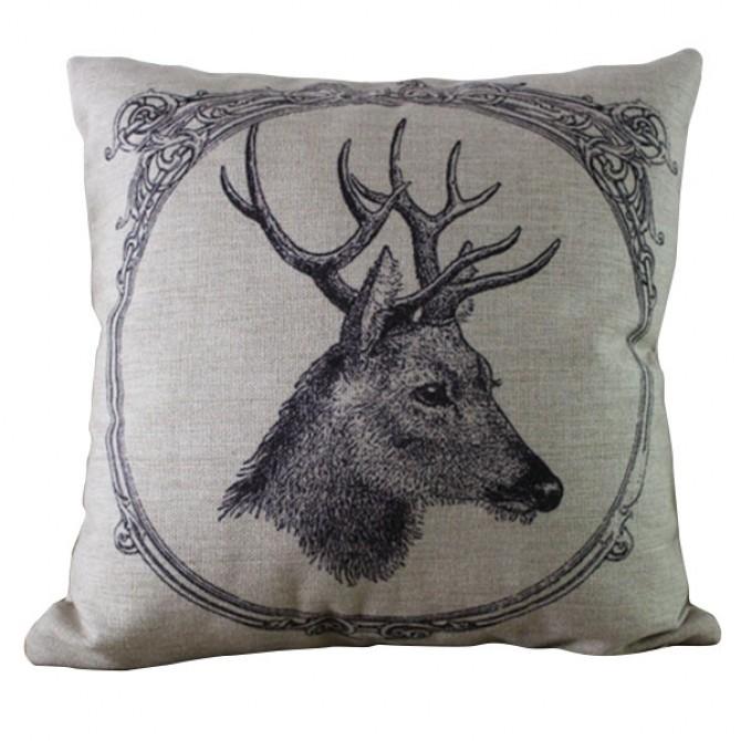 Framed Deer Cushion Cover