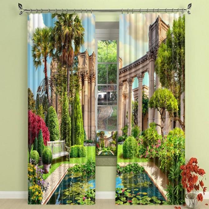Palace Garden Blackout Curtain Set