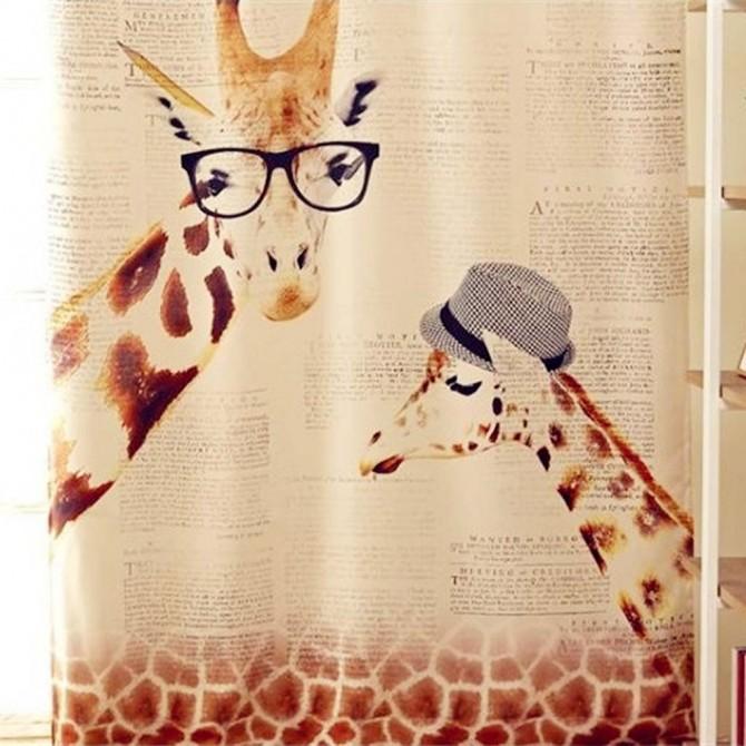 Giraff Zebra Curtain Panel