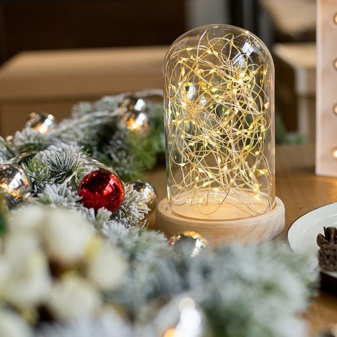 Glass Display Led Night Light Wedding Centerpiece