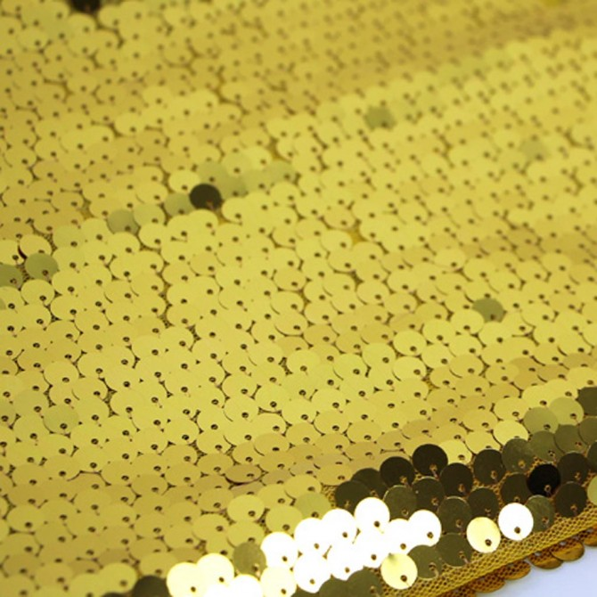High Density Gold Sequin Fabric