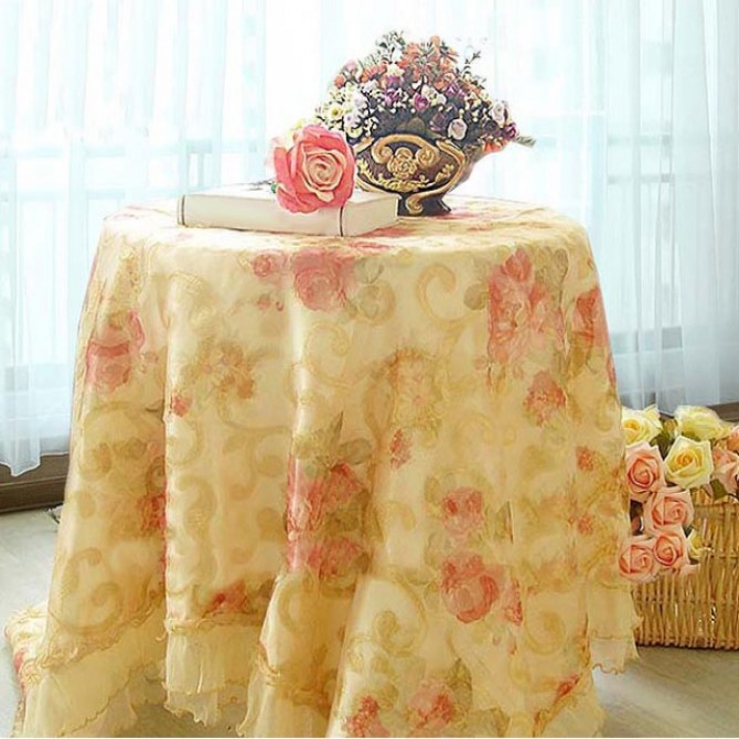 Golden Rose Tablecloth