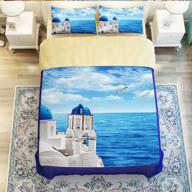 Greek Mediterranean Duvet Cover Set