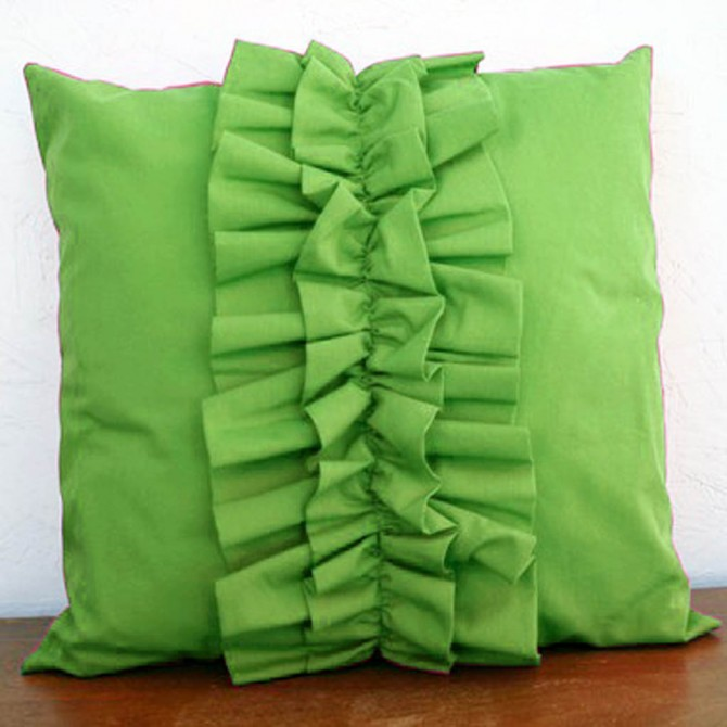 Lovely Chic Cushion Cover - Green