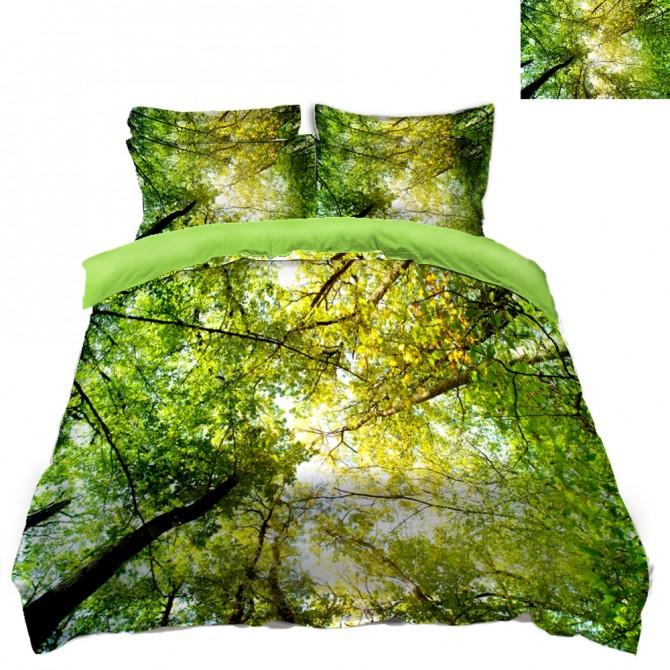 Green Tree Scenery Duvet Covet Set