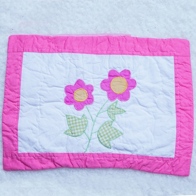 Pink Flowers Decorative Cushion Cover