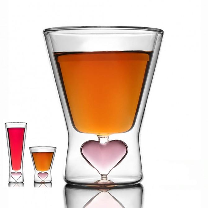 Valentine Glass Cup Set