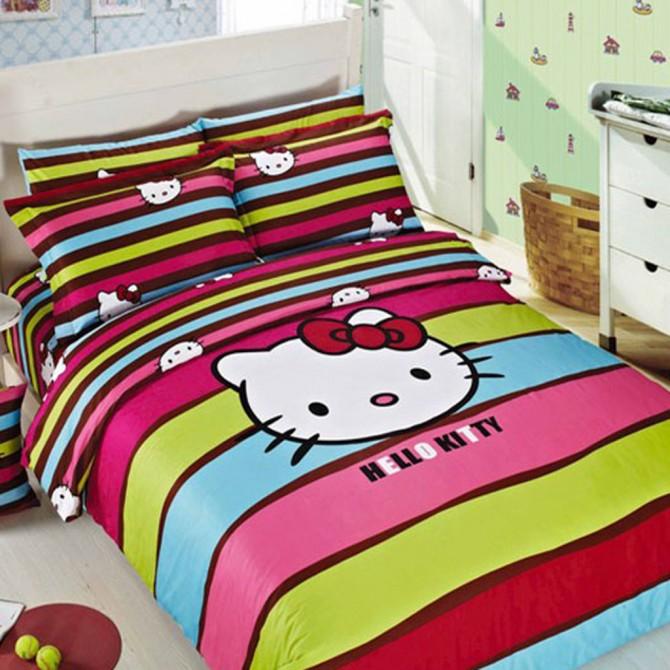 Hello Kitty Stripes Duvet Cover Set