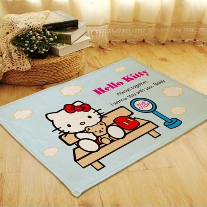 Hello Kitty Blue Floor Mat