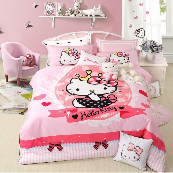 I Love Hello Kitty Princess Duvet Cover Set