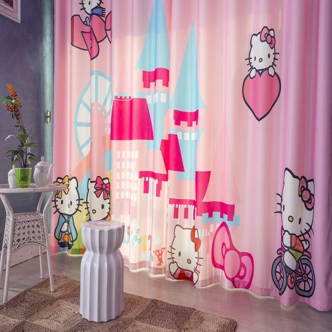 Hello Kitty Castle Curtain Set