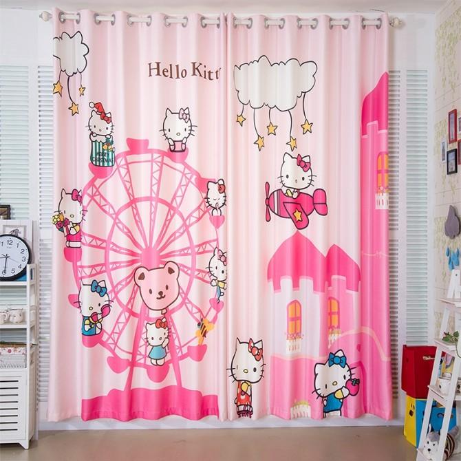 Hello Kitty on Ferris Wheels Curtain Set