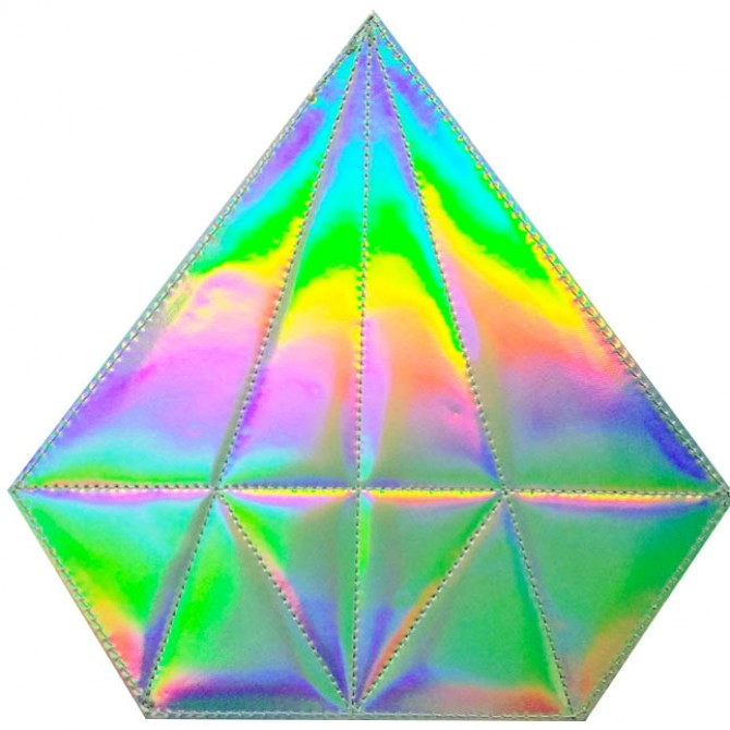 Holographic Diamond Makeup Bag with Brushes