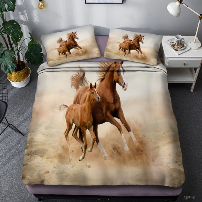 Horse Theme Duvet Cover Set 12