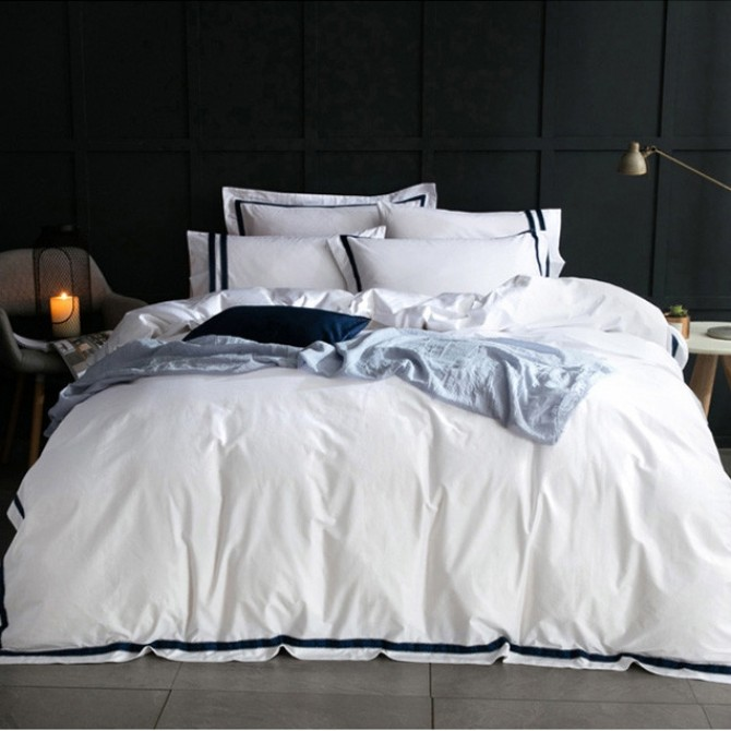 Hotel Egyptian Cotton Duvet Cover Set- Blue