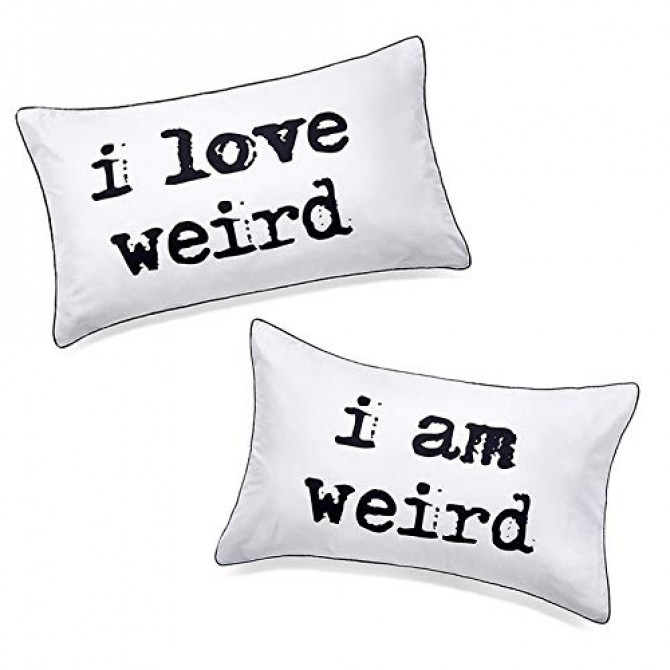 I Love Weird I am Weird Pillowcase (1 pair)