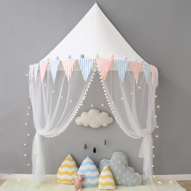 Kids Tent Canopy-Triangle Flag