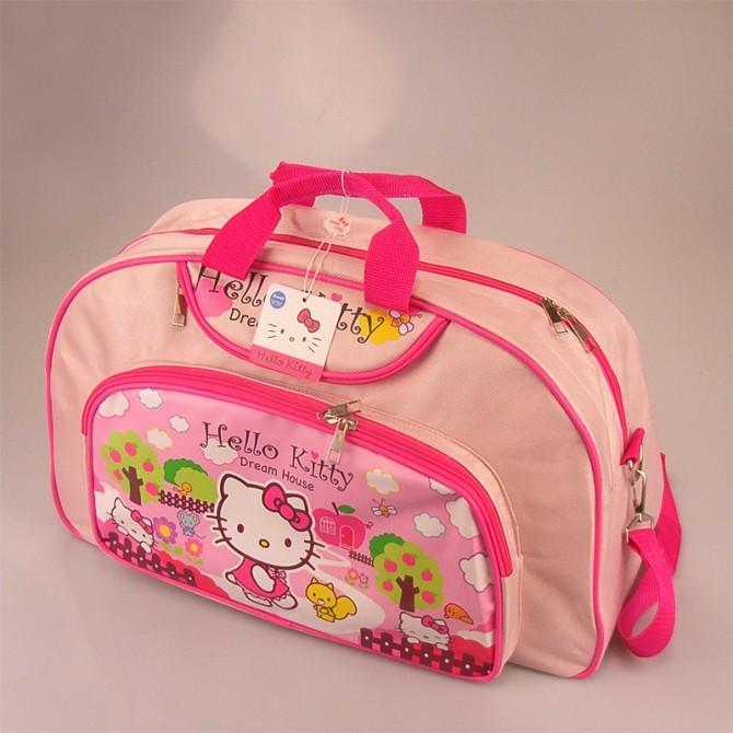 Hello Kitty in Apple Farm Pink School Travel Bag