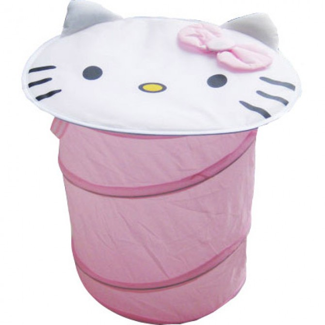 Hello Kitty Face Foldable Clothes Laundry Basket/Storage/Bag