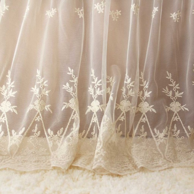 Lace Love Bed Skirt- Brown