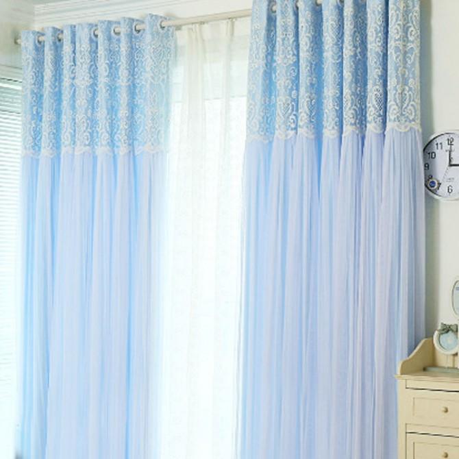 Royal Lace Panel-Light Blue