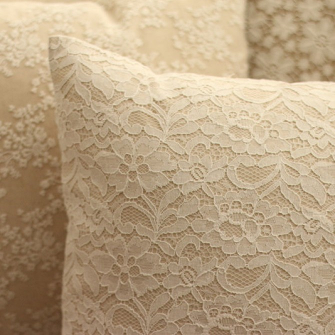 Vintage Embroidery Lace Parisian Cushion Cover