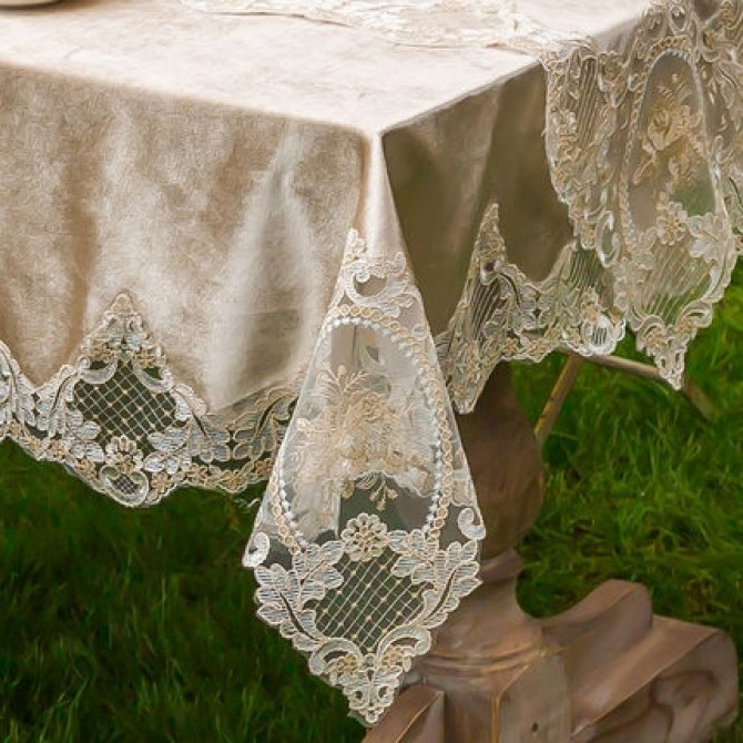 Embroidery Lace Tablecloth
