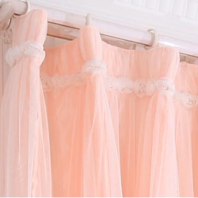 Peach Curtain