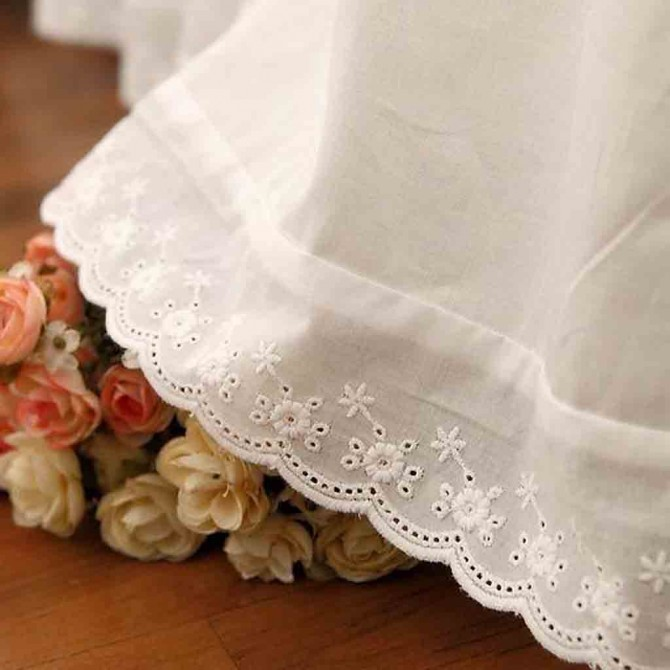 White Lace Love Full Bedskirt-Clearance Sale