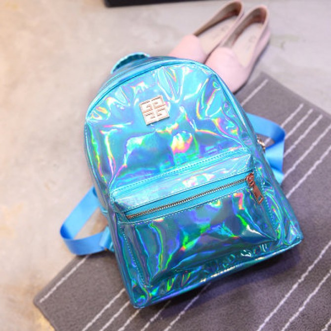 Blue Laser Hologram Backpack