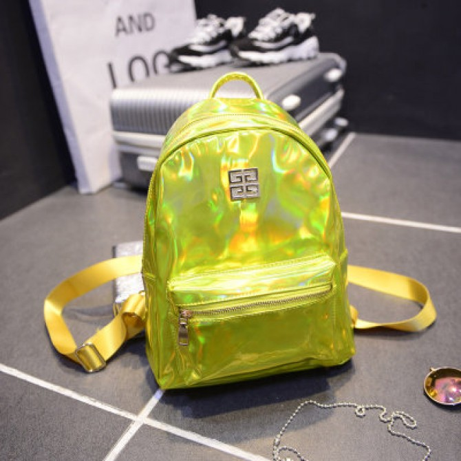 Yellow Laser Hologram Backpack
