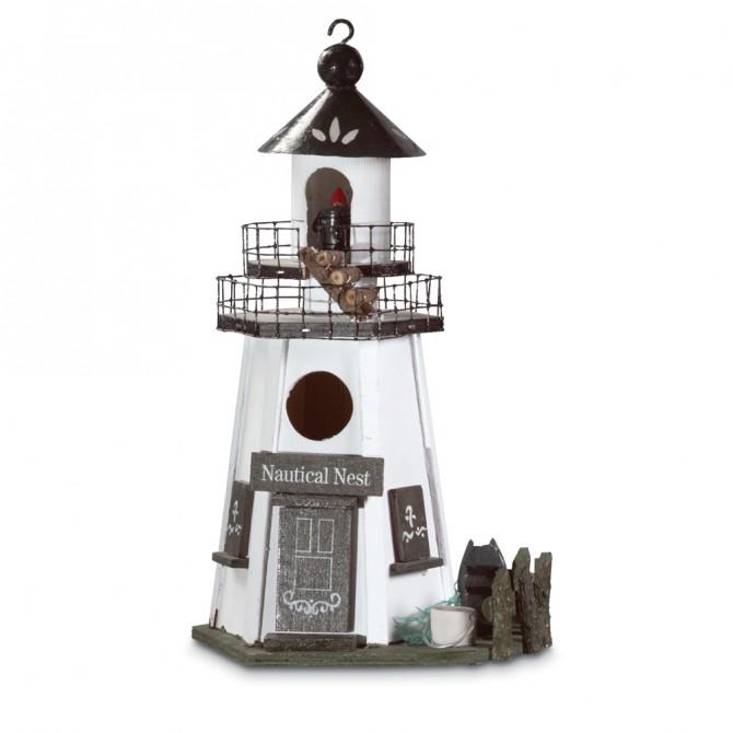 Lighthouse Bird House - Nautical Nest