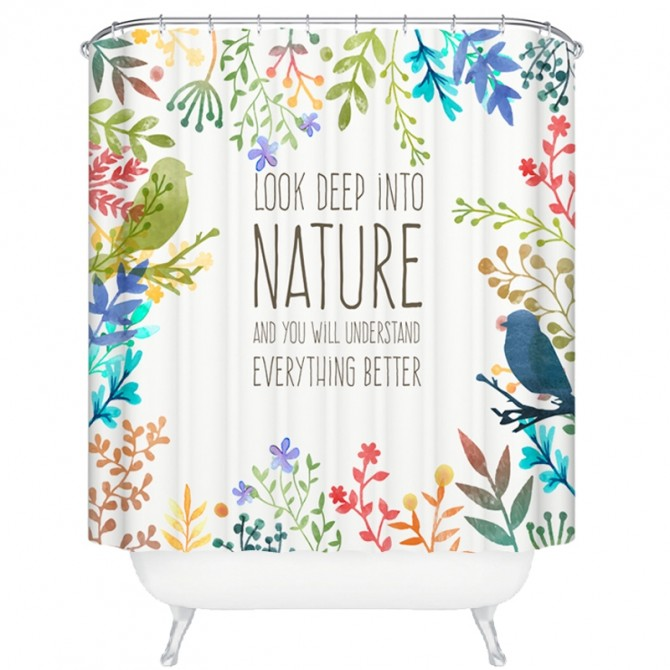 Nature Bird Shower Curtain
