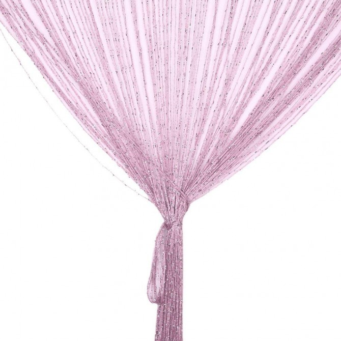 Luxury Pink Silver String Curtain