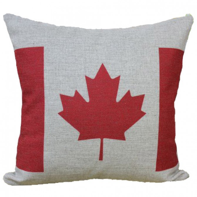Canadian Maple Leaf Cushion Cover