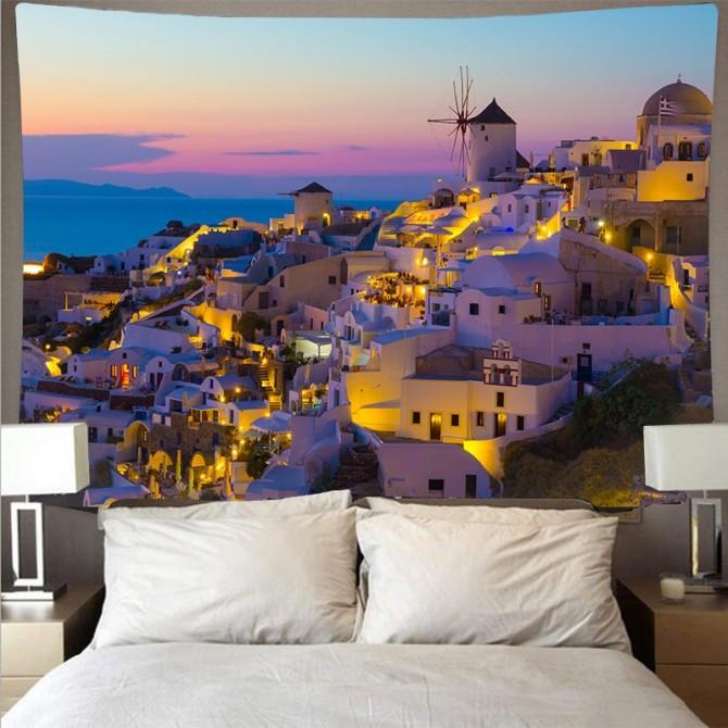 Mediterranean Sea Crete Greece Fashion Bohemian Wall Art Tapestry g