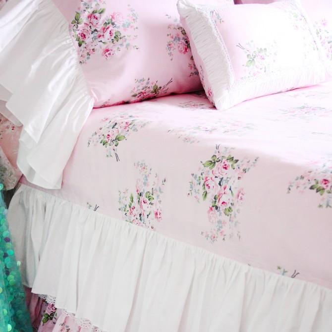 Mermaid Long Ruffle Duvet Cover Set