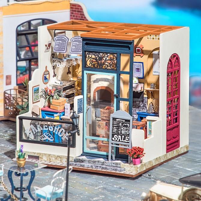 Miniature Bakery DIY Craft Dollhouse Kit