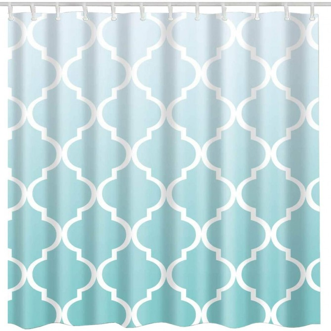 Moroccan Tiles Gradient Shower Curtain