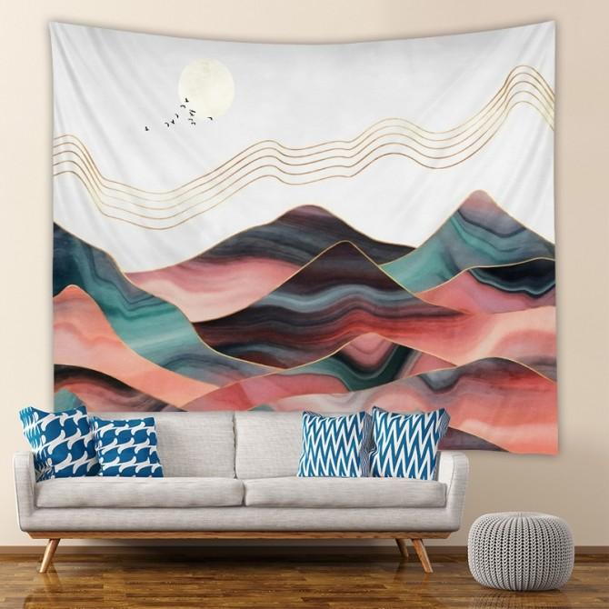 Mountain View Fashion Bohemian Wall Art Tapestry