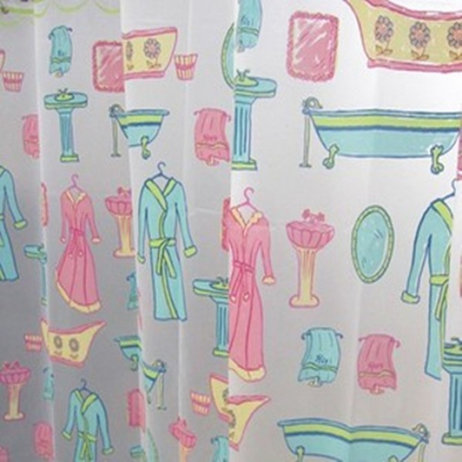 Mr. & Mrs. Shower Curtain