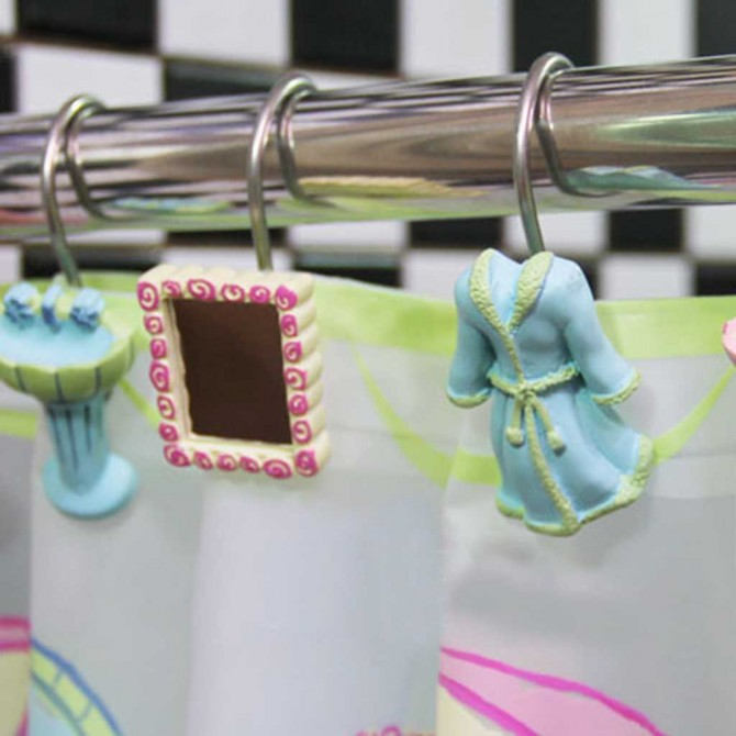 Mr. & Mrs. Shower Curtain Hooks