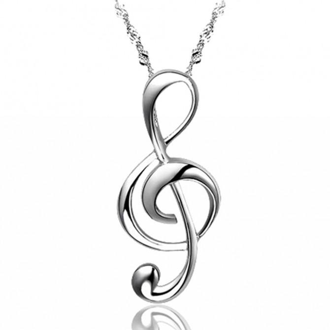Music Treble Clef Necklace